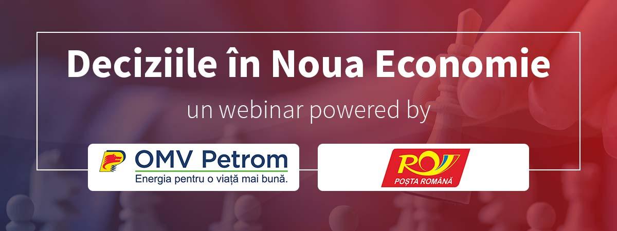 banner webinar deciziile in noua economie posta romana omv petrom